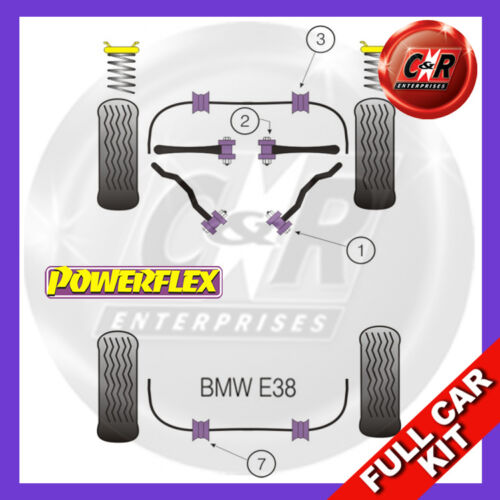 BMW E38 Série 7 1994-2002 Powerflex COMPLETE Bush Kit