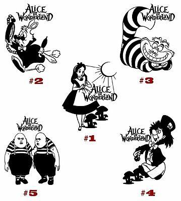 /'/'SIZES/'/' Alice In Wonderland Cartoon Sticker Bumper Decal