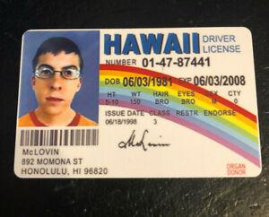 McLovin SUPERBAD Driver License Movie Prop
