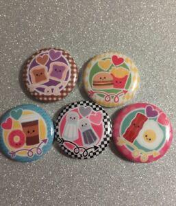 "Yum Yum Sushi 1.25/"" Pinback Button BADGE SET Novelty Pins Kawaii Cute Food 32 mm"