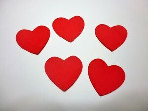FELT-hearts-red-x-15-small-size-hearts-sewing-applique-cards-craft