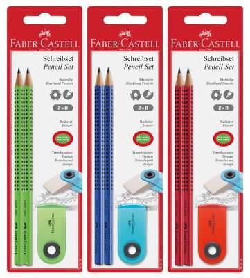 blau Faber-Castell Bleistift-Set Sleeve 6-tlg.