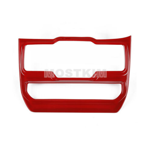 Red Console Window Switch Button Cover Trim For Jeep Wrangler JL 2018-2019