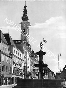 Steyr an der Enns - Rathaus - Oberösterreich - Großformat - um 1950     Z 12-45