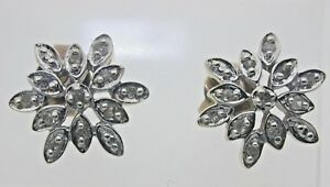9ct-Yellow-Gold-Diamond-Snowflake-Earrings-Butterfly-Backs-0-22-carats