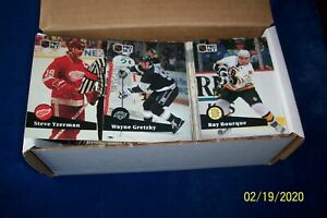 1991-92 PRO SET HOCKEY SET 1 TO 345-GRETZKY-BOURQUE-YZERMAN-NEELY-WILSON-FEDOROV