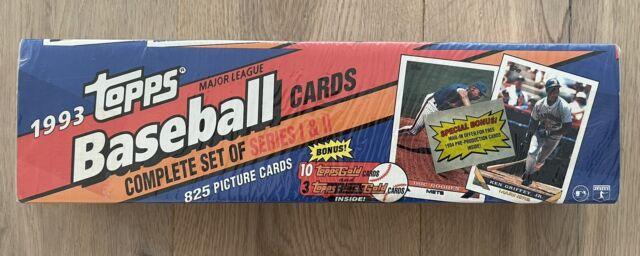 1993 Topps Baseball Complete Set Series 1 and 2 Factory Sealed Derek Jeter RC