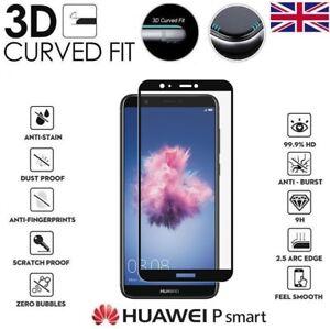 Pour Huawei P Smart 2018 Genuine 3d Complet En Verre Trempé 9 H Protecteur D'écran Housse-afficher Le Titre D'origine