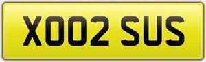 XO02-SUS-NEAT-LEGAL-CAR-REG-NUMBER-PLATE-SUSIE-SUSY-SUSAN-SUZIE-SUZY-SUSANNA