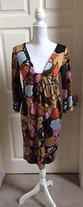 Diane-Von-Furstenberg-Print-Dress-Size-8-UK-12