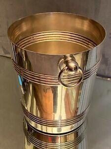 Seau à champagne en métal argenté signé Gallia (Christofle)