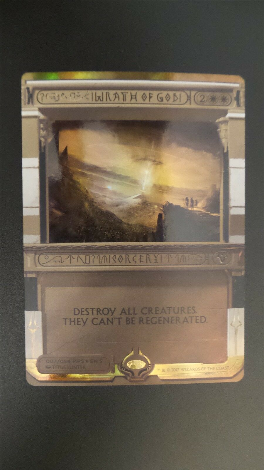 Masterpiece Series   Amonkhet Invocations  Wrath of God (FOIL) (NM )  Mtg