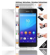 6x Displayschutzfolien für Sony Xperia M5 Schutzfolie Klar Folie Displayfolie