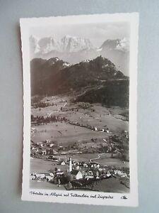 Ansichtskarte-Pfronten-im-Allgaeu-mit-Falkenstein-und-Zugspitze-40-50er