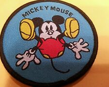 "Mickey Mouse falling  sew on patch mint never used 2.5"" x 2.5"""