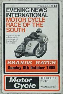 Brands Hatch 6 Oct 1968 Motor Cycle Race Of The South