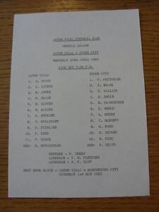 29041982 Aston Villa Reserves v Stoke City Reserves  Single Sheet - Birmingham, United Kingdom - Returns accepted within 30 days after the item is delivered, if goods not as described. Buyer assumes responibilty for return proof of postage and costs. Most purchases from business sellers are protected by the Consumer Contr - Birmingham, United Kingdom