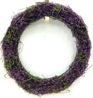 Heather Vine Wreath. Wire Frame. Purple. 19. Artificial
