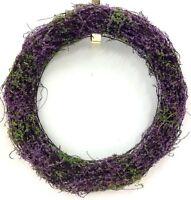Heather Vine Wreath. Wire Frame. Purple. 15. Artificial