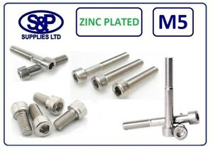 ZINC-PLATED-SOCKET-CAPSCREW-GR12-9-BZP-5MM-5mm-8MM-TO-50MM-LONG