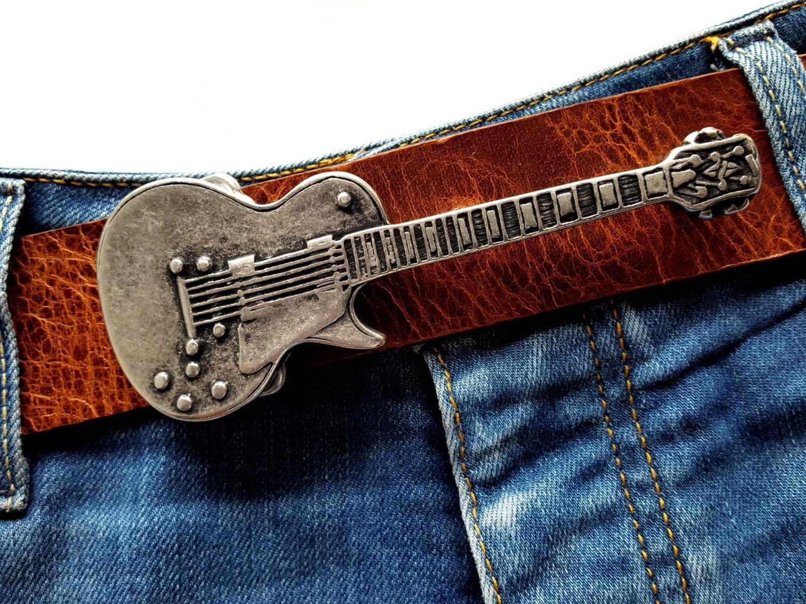 Gürtelschließe Guitarre Rock N Roll Musiker Rockstar Wechselschnalle 4cm