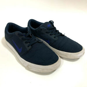 NIKE-SB-Youth-Portmore-Skateboarding-Athletic-Sneakers-Dark-Blue-US-8-UK-7-EU-41