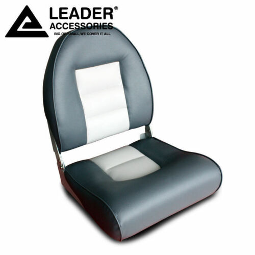 New Charcoal//Gray Leader Accessories Marine Boat Seat