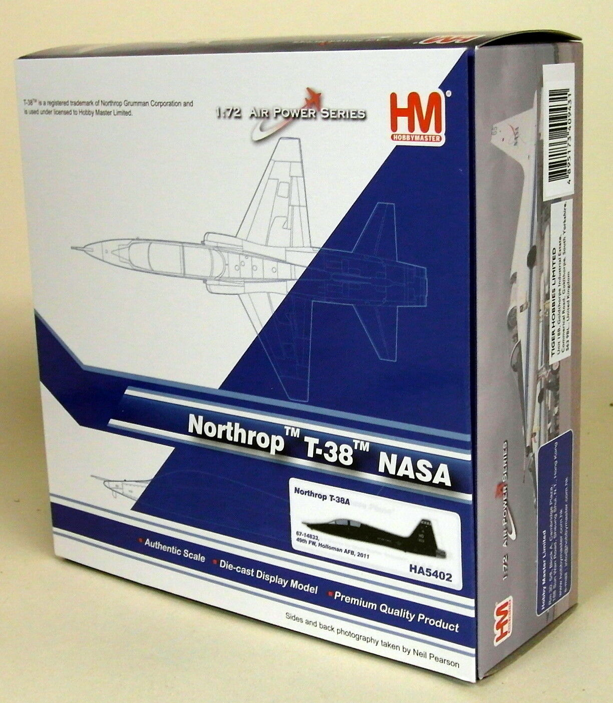 HOBBYMASTER échelle 1 72 HA5402 Northrop T-38 T-38 T-38 NASA 49TH FW 2011 DIECAST AIRPLANE be002b