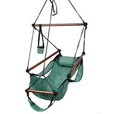 us outdoor hammock hanging chair air deluxe sky swing chair solid wood 250lb toy hanging chair hammock wood outdoor air deluxe swing solid 250lb      rh   ebay