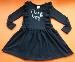 mädchen kleid glanz effekt dunkelblau langarm neu | ebay