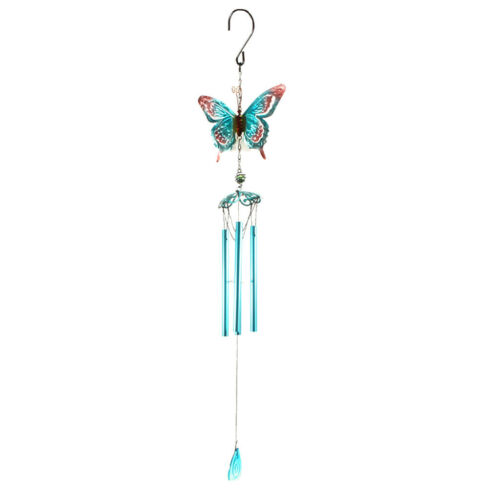 Large 75cm Butterfly Metal Wind Chimes Hanging Sun Catcher Chimes with Tube