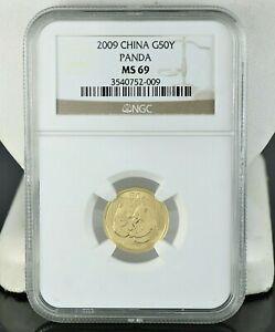 2009-NGC-China-G50Y-Yuan-MS69-Panda-Gold-MS-69-1-10z-Au-999-Coin
