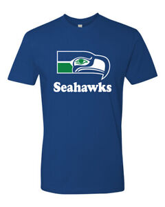 Vintage-Seattle-Seahawks-Shirt-Retro-Logo-Brand-New-item-overstock-item