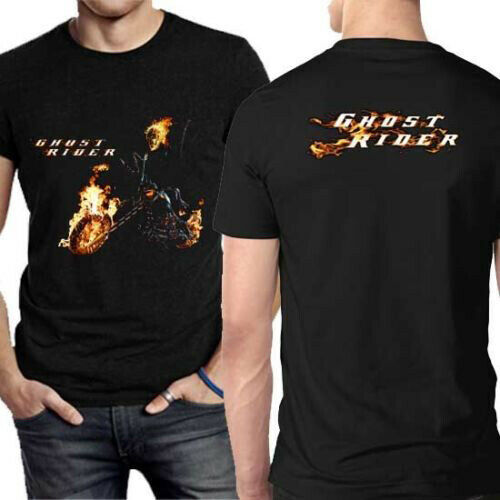 Ghost Rider Tshirt Black New Men/'s T-Shirt Tee Size S to 3XL