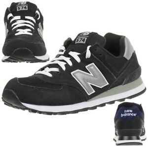 Details zu New Balance ML574 NK Classic Sneaker Herren Schuhe schwarz ML574SNK