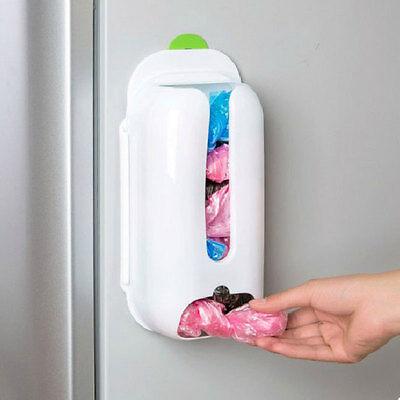 Plastic Mount Wall Grocery Bag Holder Plastic Storage Box Kitchen Organizer DIY
