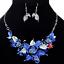 Fashion-Elegant-Women-Rhinestone-Crystal-Choker-Bib-Statement-Pendant-Necklace thumbnail 3