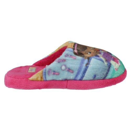 DISNEY DOC MCSTUFFINS GIRLS SLIP ON WINTER INDOOR LOUNGE MULE SLIPPER D93641