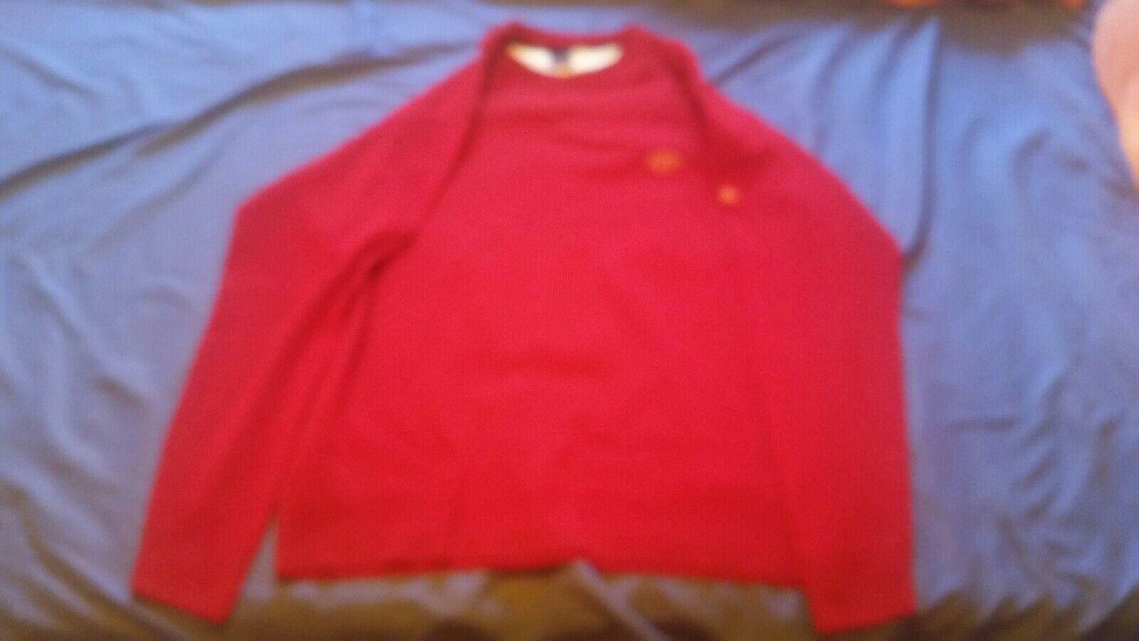 Roter Herrenpulli von Paul & Shark in Gr. XL
