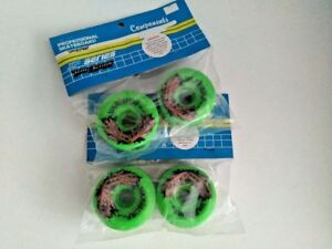 VINTAGE-VARISURF-GREEN-SKATEBOARD-WHEELS-95A-65mm-OLD-SCHOOL-VARIFLEX-XP