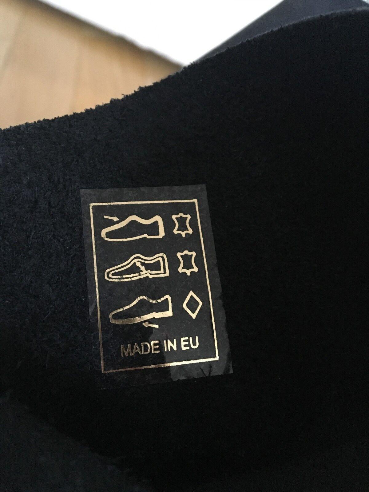 Cox Damen Lederstiefel Lederstiefel Lederstiefel in schwarz, Größe 37 c40230