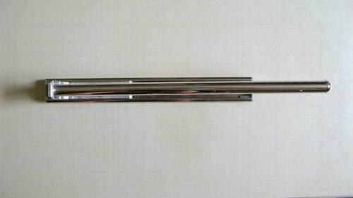 Badmöbel Handtuchhalter Chrom 1-fach 1-armig ausziehbar 330 mm Rollenführung f