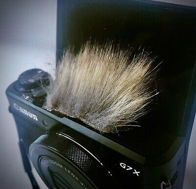 Universal Fur Stick-on Camera Wind noise Sheild Muff Muffler Canon G7X