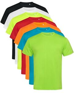 ACTIVE-DRY-Plain-Cotton-Touch-Breathable-Polyester-Sports-Tee-T-Shirt-Tshirt