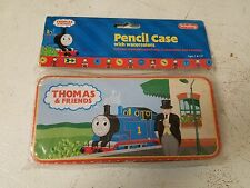 COLLECTIBLE THOMAS THE TRAIN AND FRIENDS TIN PENCIL CASE WITH WATERCOLORS