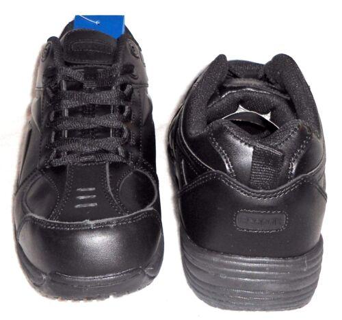 New Reebok Black RB1100 Jorie Leather Slip Resistant Work Shoes Sneakers Mns Wms
