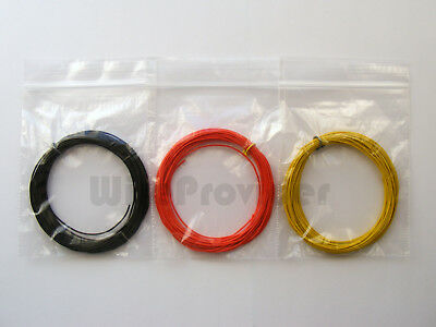 15m 10//0.1mm Equipment Wire Kit  3 Colours 0.5A Miniature Stranded   WP-031216