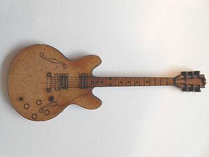 10x en bois guitares électriques gibson ES-355 carte artisanat scrapbook embellishment art