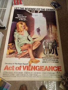 ACT-OF-VENGEANCE-1974-PETER-BROWN-ORIGINAL-40-034-BY60-034-POSTER-ROLLED-NICE