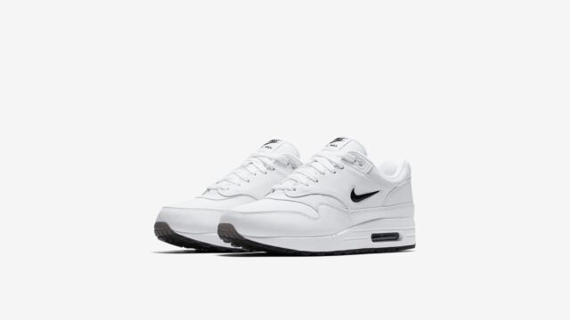 585da0891bad Nike Air Max 1 Premium SC JEWEL Little Swoosh White Black Men ...